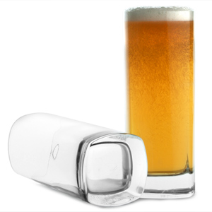 Strauss Square Base Beer Glasses 13.4oz / 380ml