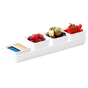 Utopia Anton Black Rectangular Tray & Deep Square Dishes