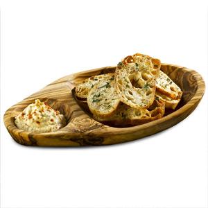 Acacia Wood Food Presentation Olive Dish 18cm