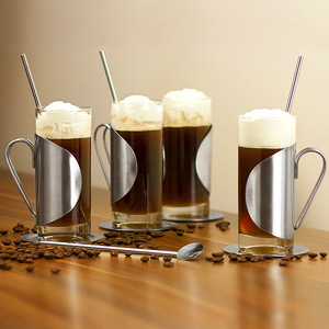 Irish Coffee Glass Complete Gift Set 4x 8.8oz / 250ml