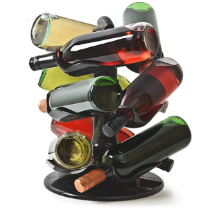 Rotatable 9 Bottle Wine Rack