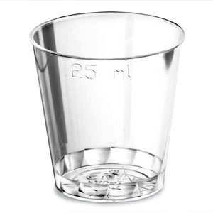 Disposable Shot Glasses CE 0.9oz / 25ml
