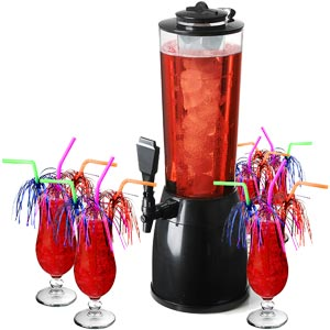 Ice Core Beverage Dispenser Cocktail Set