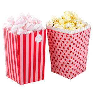 Pink n Mix Treat Holder Popcorn Boxes