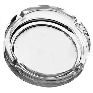 Clear Stackable Ashtray 4.25inch