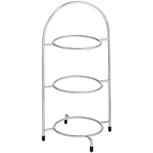 Utopia Chrome 3 Tier Cake Plate Stand 15.5inch / 39cm