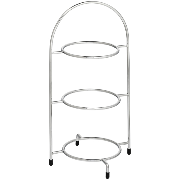 Utopia Chrome 3 Tier Cake Plate Stand 15 5inch 39cm