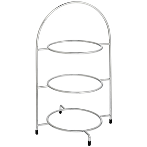 Utopia Chrome 3 Tier Cake Plate Stand 16.5inch / 42cm