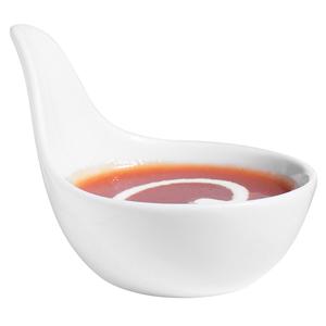 """Utopia Anton Black Handled Tasting Dish 2.5"""" /1.7oz"""