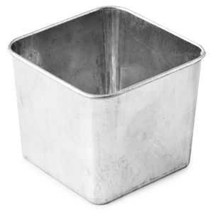 Galvanised Steel Tub Square 8 x 8 x 6cm