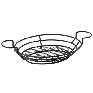 Wire Basket Oval with Ramekin Holders