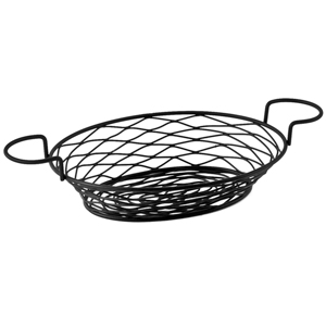 Birdsnest Basket Oval with Ramekin Holders