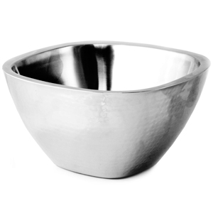 Double Wall Stainless Steel Square Bowl 26cm