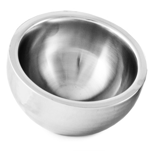 Double Wall Stainless Steel Dual Angle Bowl 20cm