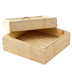 Bamboo Square Steamer 8inch