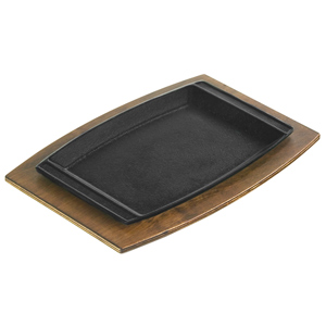 Lodge Cast Iron Sizzlin' Chef's Platter and Underliner