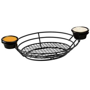 Wire Basket Oval with Ramekins