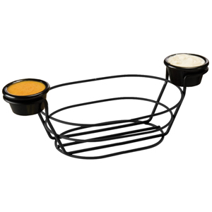 Wire Basket Oblong with Ramekins