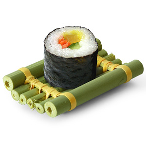 Nikko Bamboo Tube Raft Sushi Dishes