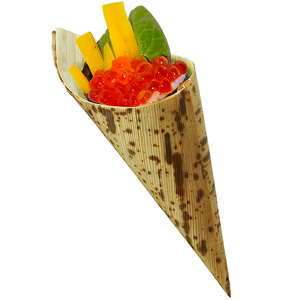 Bamboo Leaf Temaki Cones 5.1inch