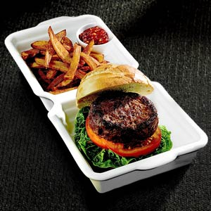Ceramic Burger Box 32 x 15.5 x 4cm
