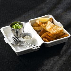 Ceramic Fish & Chip Box 33 x 24 x 4cm
