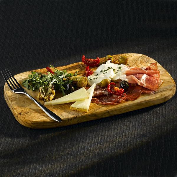 Olive Wood Food Presentation Platter 22cm Drinkstuff