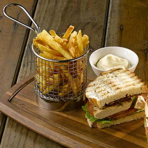 Stainless Steel Mini Presentation Chip Basket Catering