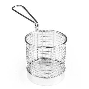 Stainless Steel Mini Presentation Chip Basket 9cm