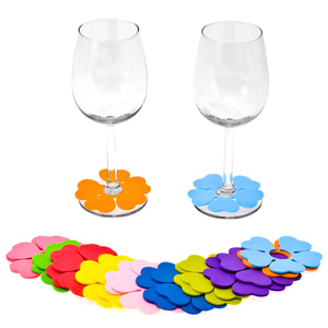 Spring Flower Glass Markers