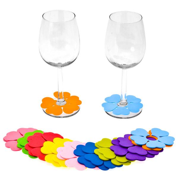 Spring Flower Glass Markers Drinkstuff
