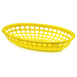 Classic Oval Food Basket Yellow 24x15x5cm