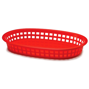 Chicago Oval Platter Basket Red 26.5x18x4cm