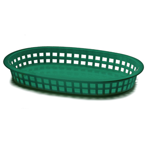 Chicago Oval Platter Basket Forest Green 26.5x18x4cm