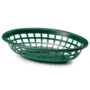 Side Order Oval Basket Forest Green 20x14x5cm