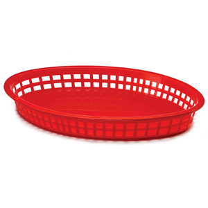 Texas Oval Platter Basket Red 32x24x4cm