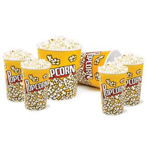 Popcorn Cups Set