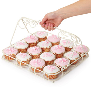 Sweetly Does It Decorative Wire Cupcake Carrier