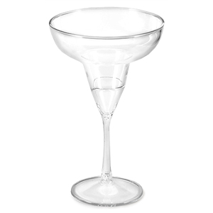 Two Tone Acrylic Margarita Glasses Clear Stem 12oz / 340ml