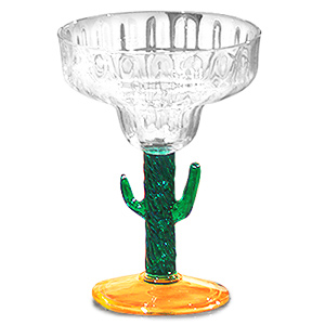 Cactus Acrylic Margarita Glasses 11oz / 310ml