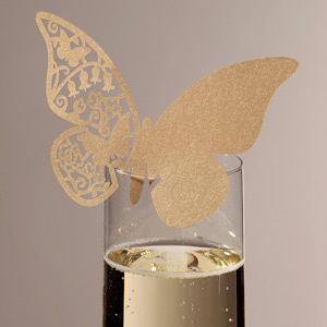 Something in the Air Butterfly Place Cards Gold