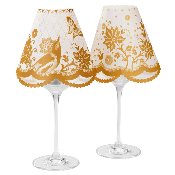 Charming Party Porcelain Wine Glass Lampshades