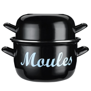 Kitchen Craft Enamelled Steel Mussels Pot 18cm