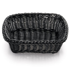 Ridal Rectangular Basket Black 11.5 x 8.5 x 3.5inch