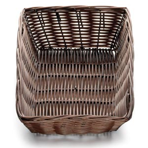 Handwoven Rectangular Basket Brown 9 x 6 x 2.5inch