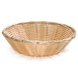 Handwoven Round Basket Natural 8.5 x 2.25inch