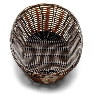 Handwoven Oval Basket Brown 9 x 6 x 2.25inch