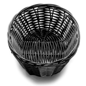 Handwoven Oval Basket Black 7 x 5 x 2inch