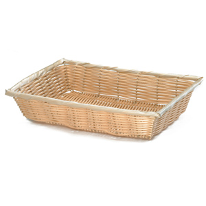 Handwoven Rectangular Basket Natural 16 x 11.25 x 3inch