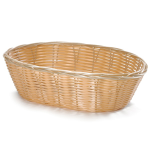 Handwoven Oval Basket Natural 10 x 6.5 x 3inch